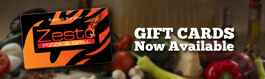Zesto Pizza & Grille Gift Cards now available